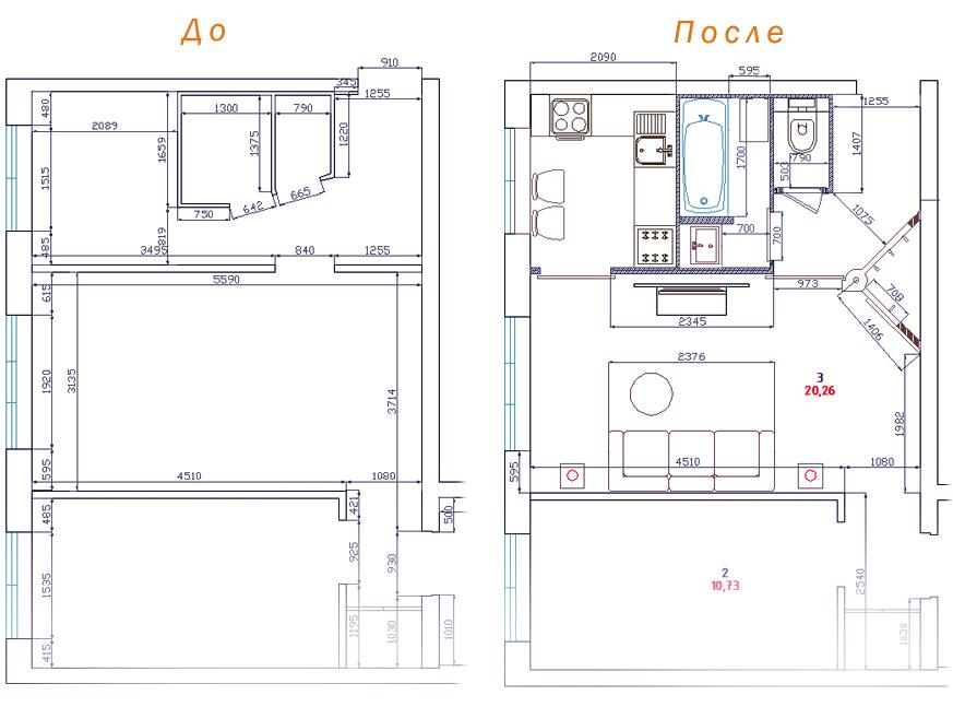 Согласование перепланировки квартиры / студия дизайна 3d-сти.