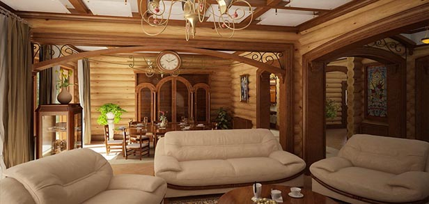 Коттедж из бруса 12х7 м с 4 спальнями — Проект Риттес